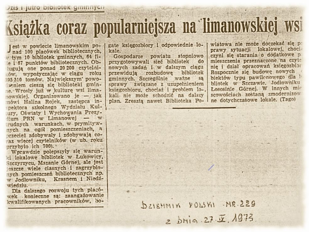 Dziennik Polski 27-09-1973