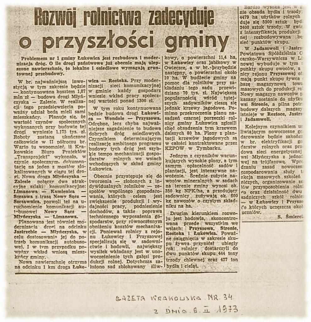Gazeta Krakowska 09-02-1973