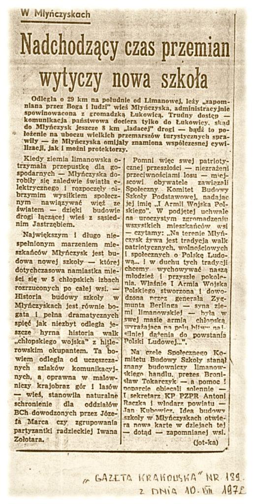 Gazeta Krakowska 10-08-1972
