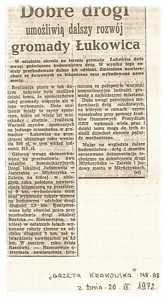 Gazeta Krakowska 20-04-1972
