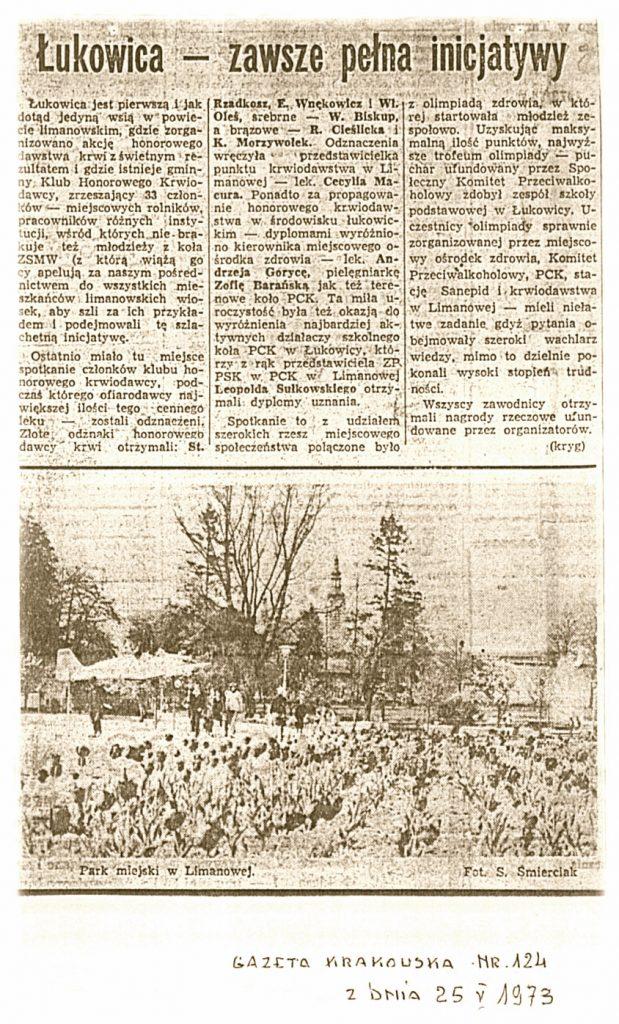 Gazeta Krakowska 25-05-1973