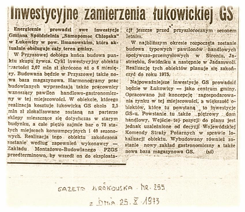 Gazeta Krakowska 25-10-1973