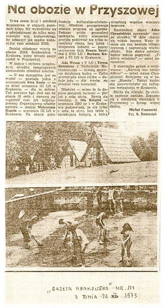Gazeta Krakowska 26-07-1973