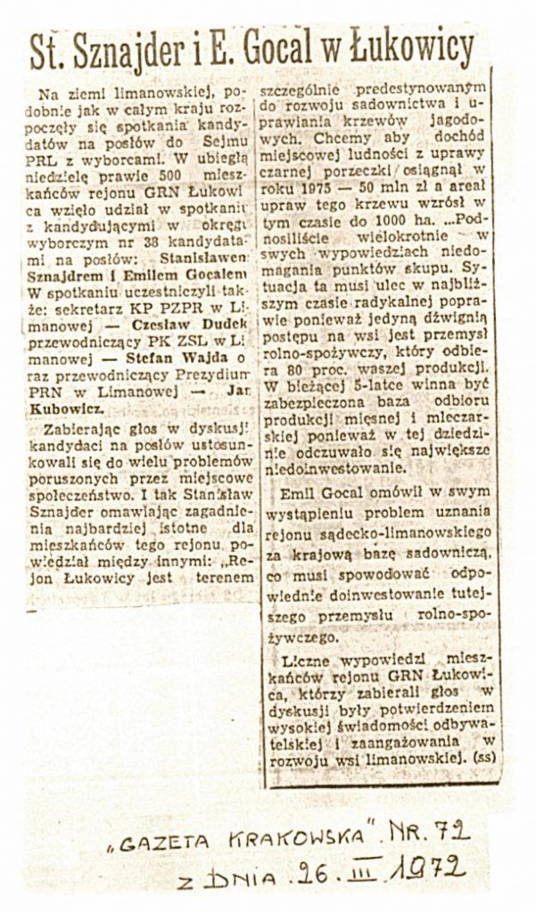 Gazeta Krakowska 26_03_1972