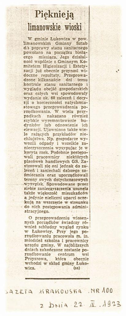 Gazeta Krakowska 27-04-1973