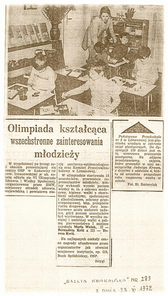 Gazeta Krakowska 28-11-1972