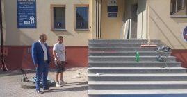 Remont wejścia do Ośrodka Zdrowia w Łukowicy