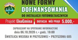Spotkanie informacyjne dotyczące instalacji fotowoltaicznych