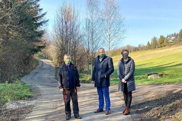 Prace na drodze Stronie-Łukowica