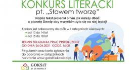 """Konkurs literacki """"Słowem tworzę"""" – zmiana terminu"""