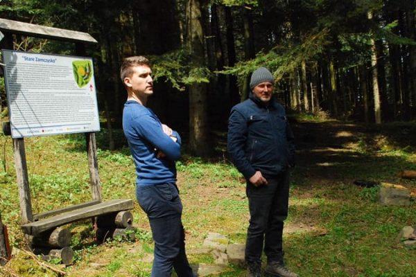 Prace nad ścieżką turystyczno-krajoznawczo-edukacyjną z Przyszowej na Łyżkę