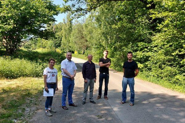 Berdychów-przekazanie placu pod przebudowę drogi gminnej