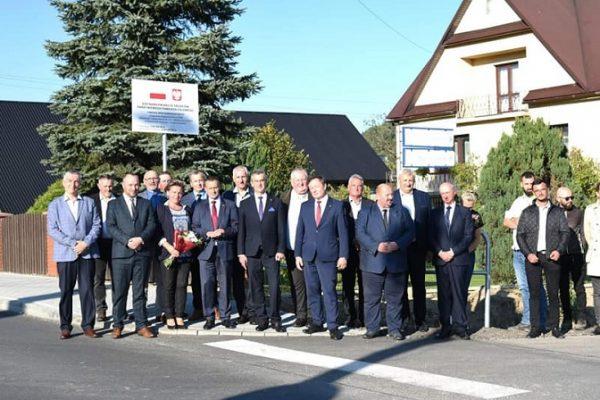 Odbiór przebudowy drogi powiatowej na odcinku Przyszowa – Berdychów (2,2km)